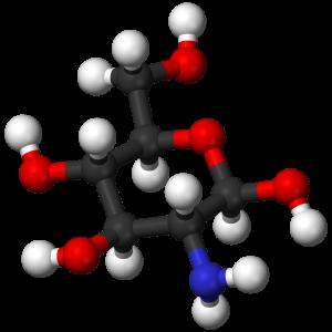 Model van molecuul structuur Glucosamine